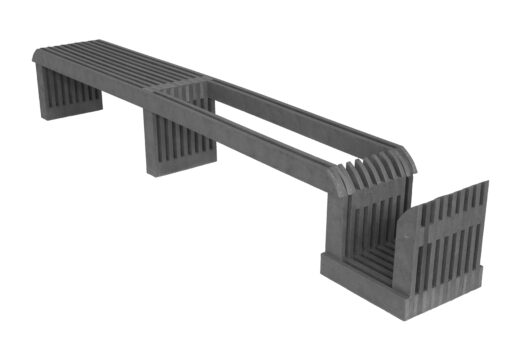 Ławka z miejscem na donice