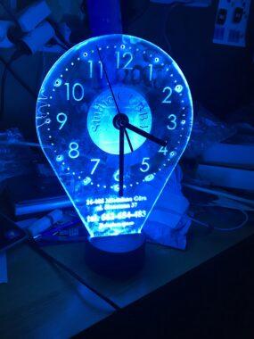 Zegar LED - pleksa - laser
