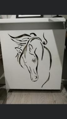 Koń - pcv - laser