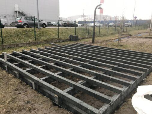 Konstrukcja podłogi altan - kompozyt - budowa