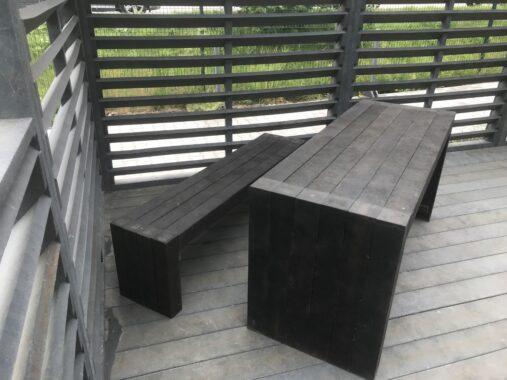 Ławka i biurko - kompozyt